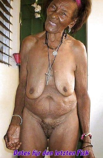 Afrikanische Schoko Granny sucht Ficker